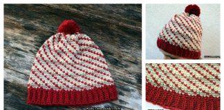 Swirly Heart Hat Free Crochet Pattern and Video Tutorial