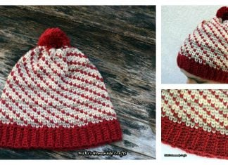 Swirly Heart Hat Free Crochet Pattern and Video Tutorial