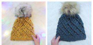 The Cross My Heart Beanie Free Crochet Pattern