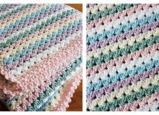 V Stitch The Sweetheart Blanket Free Crochet Pattern