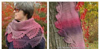 Tulip Reverie Shawl Free Crochet Pattern