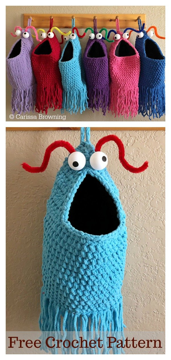 Yip Yips Hanging Baskets Free Crochet Pattern