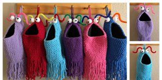 Yip Yips Hanging Baskets Free Knitting & Crochet Pattern