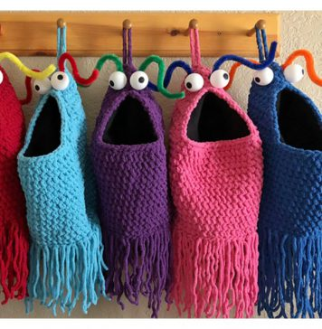 Yip Yips Hanging Baskets Free Knitting & Crochet Pattern