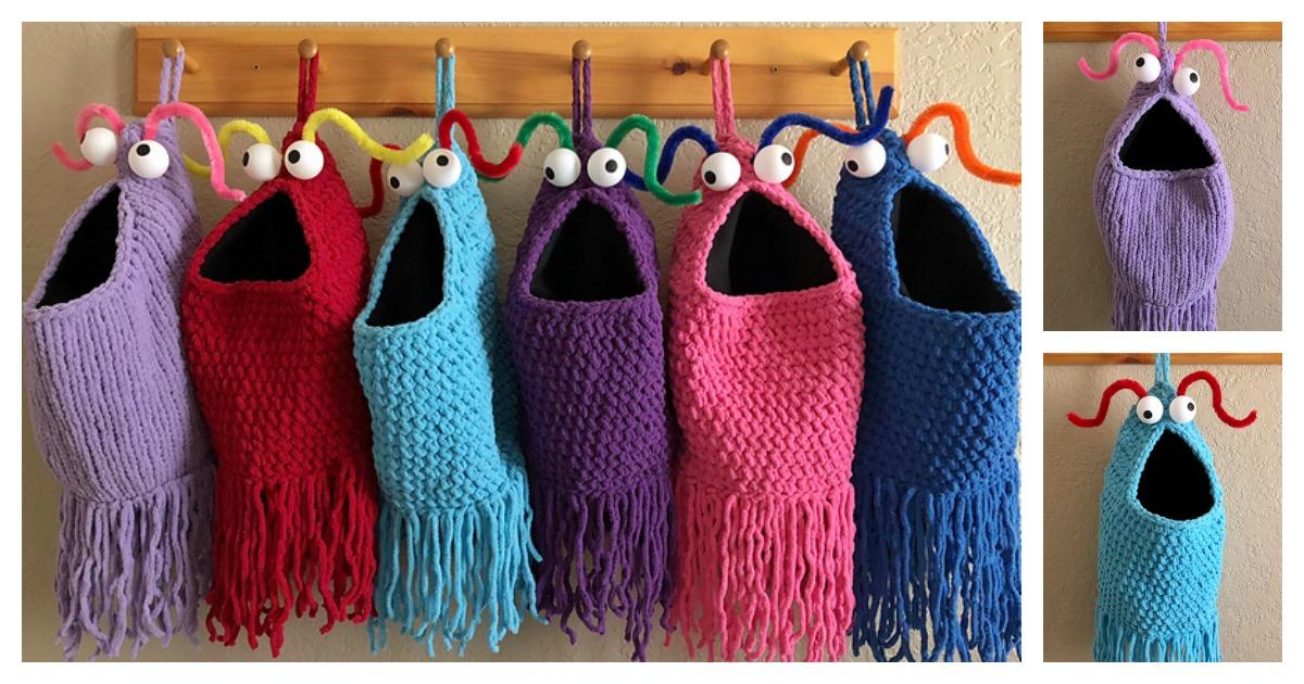 Yip Yips Hanging Baskets Free Knitting Crochet Pattern