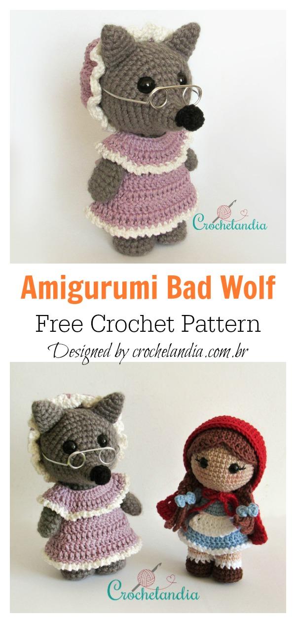 PATTERN: Wilson the Wolf Pup - Crochet wolf pattern - amigurumi ... | 1260x600