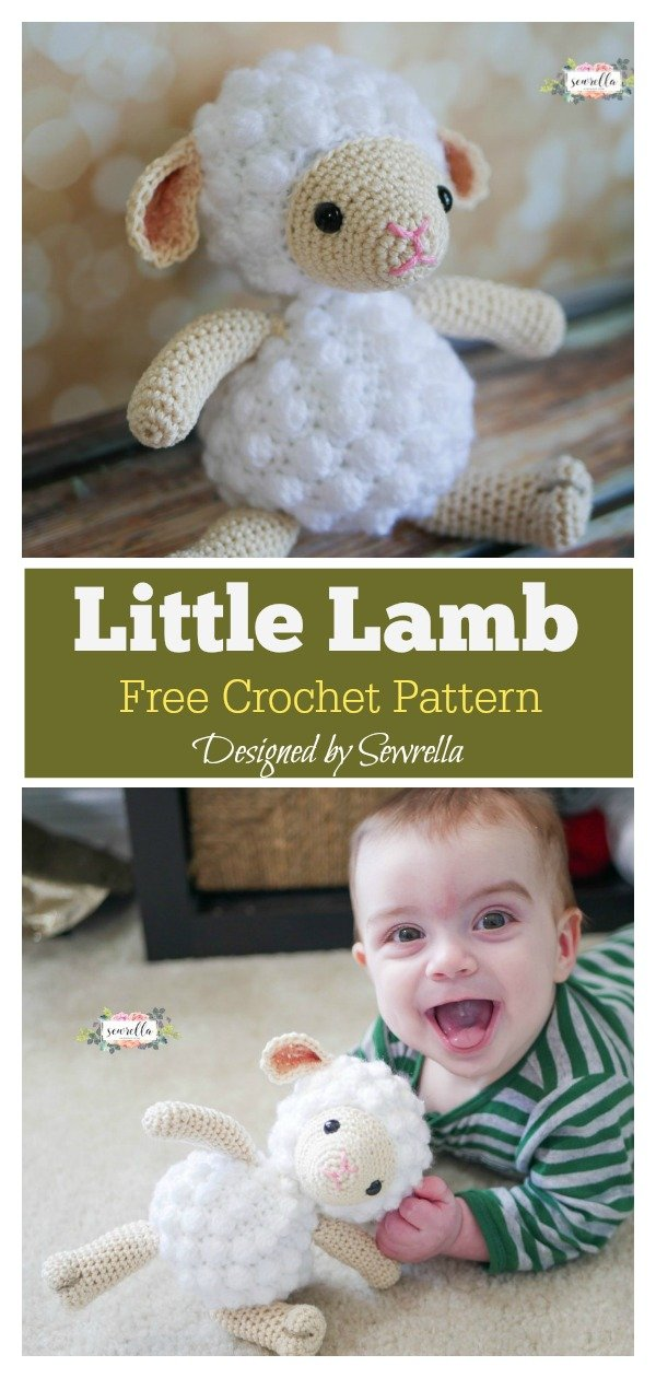 Amigurumi Toy Little Lamb Free Crochet Pattern