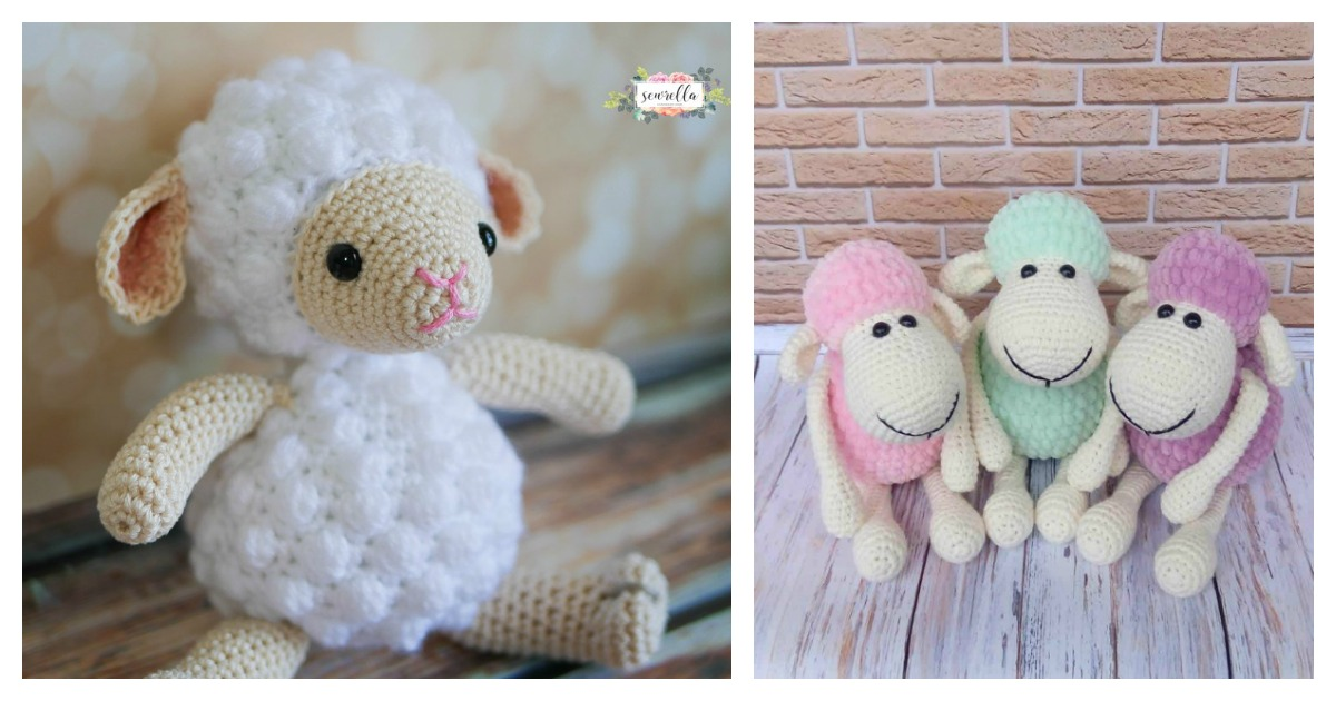 Free Minty Sheep crochet pattern - Amigurumi Today | 630x1200