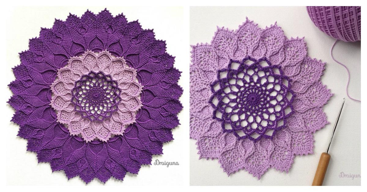 Arcanoweave Mandala Doily Free Crochet Pattern