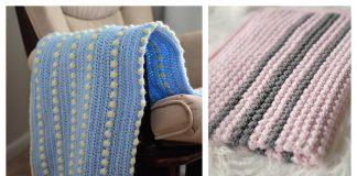 Bobble Stitch Baby Blanket Free Crochet Pattern