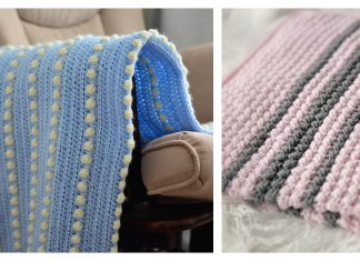 Bobble Stitch Baby Blanket Free Crochet Pattern