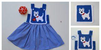 C2C Little Puppy Blue Dress Free Crochet Pattern