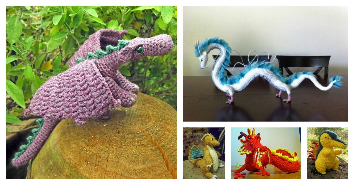 10 Dragon Free Crochet Pattern Roundup