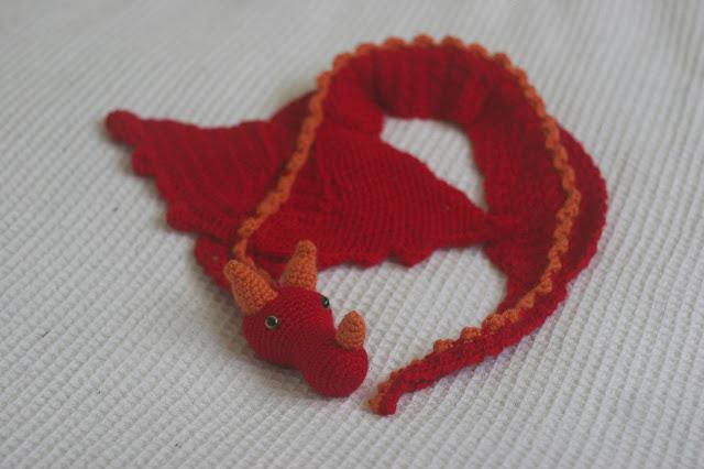 Dragon Scarf Free Crochet Pattern