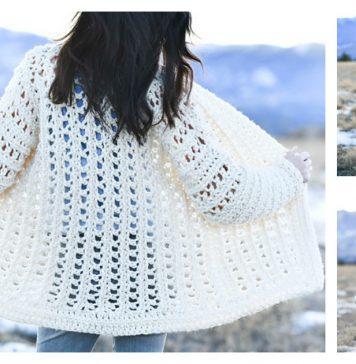 Easy Oversized Cardigan FREE Crochet Pattern