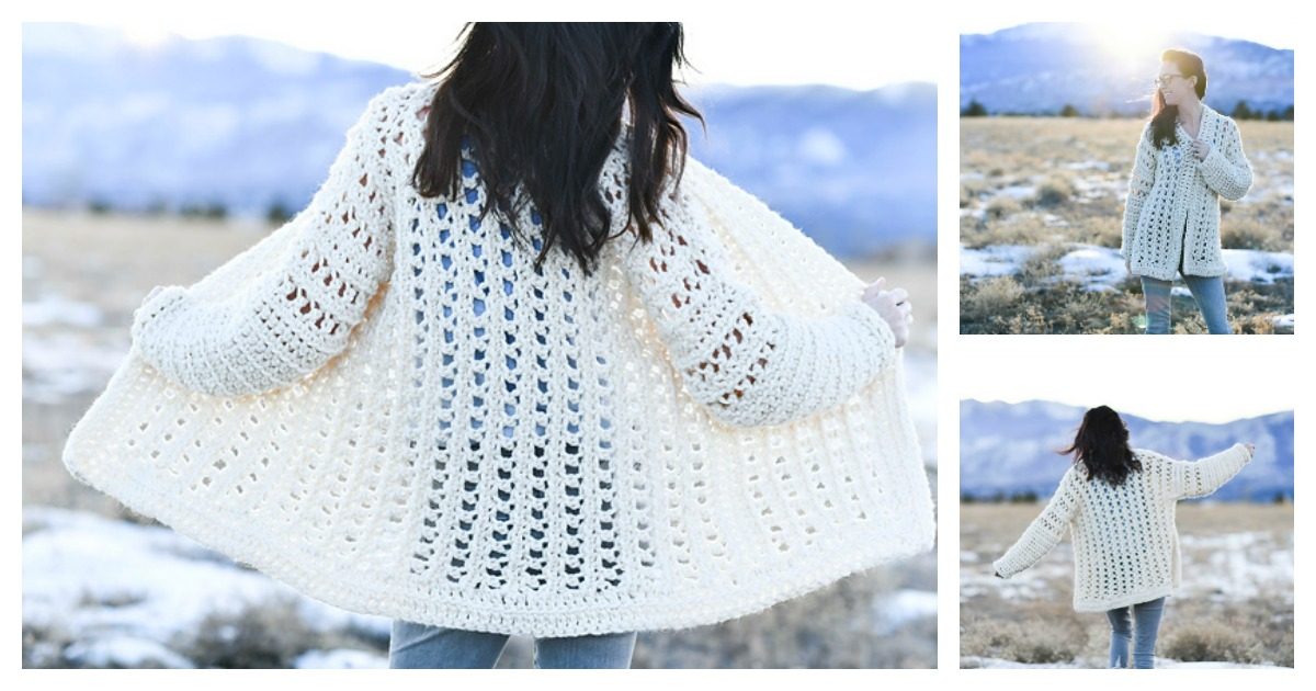 632659833 Easy Oversized Cardigan FREE Crochet Pattern