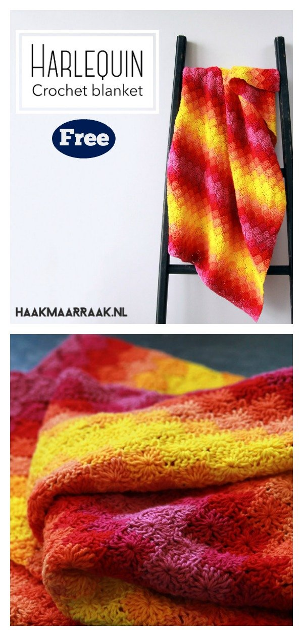 Harlequin Stitch Blanket Free Crochet Pattern