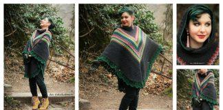 Hooded Poncho Free Crochet Pattern