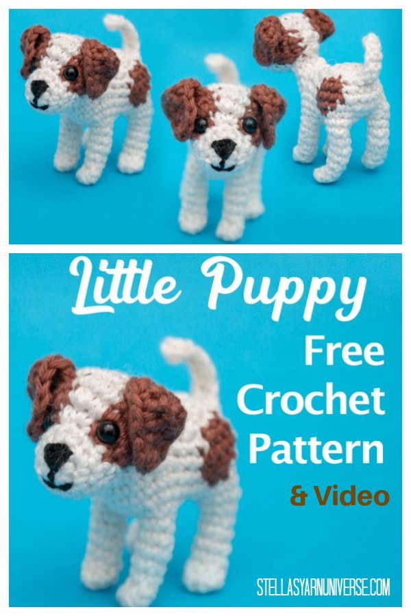 Little Puppy Jack Russell Free Crochet Pattern and Video Tutorial