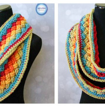 Lucky Celtic Infinity Scarf Free Crochet Pattern