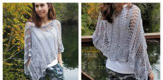 Pineapple Stitch Lace Poncho Free Crochet Pattern