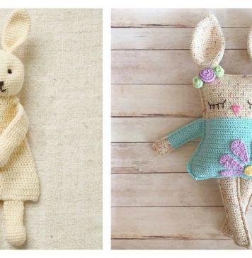 Rabbit Ragdoll Toy Free Crochet Pattern