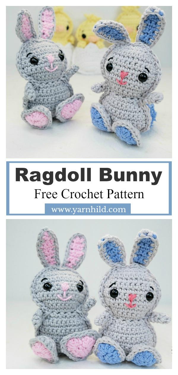 Ragdoll Bunny Toy Free Crochet Pattern