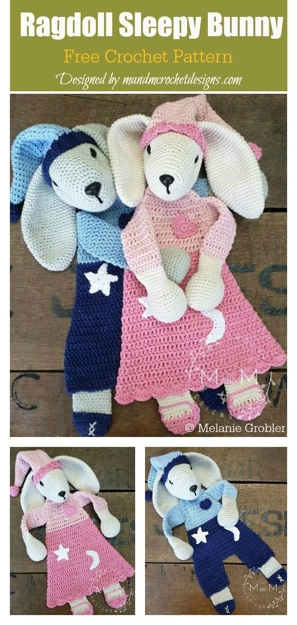 Ragdoll Sleepy Bunny Toy Free Crochet Pattern