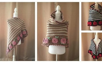 Rambling Roses Shawl Free Crochet Pattern and Video Tutorial