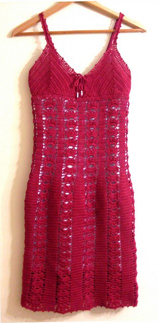 Red Cotton Dress Free Crochet Pattern