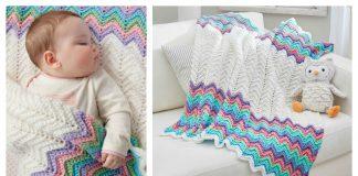 Rickrack Rainbow Baby Blanket Free Crochet Pattern