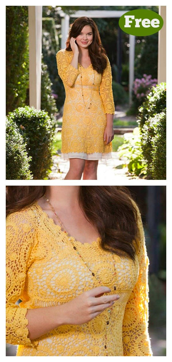 Sunflower Dress FREE Crochet Pattern
