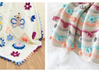 3D Flower Afghan Blanket Free Crochet Pattern