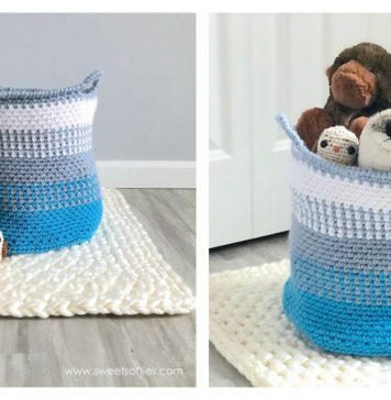 Blue Coast Basket Free Crochet Pattern