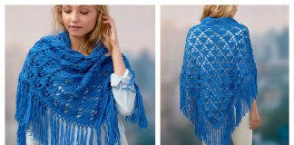 Boho Shawl Free Crochet Pattern and Video Tutorial