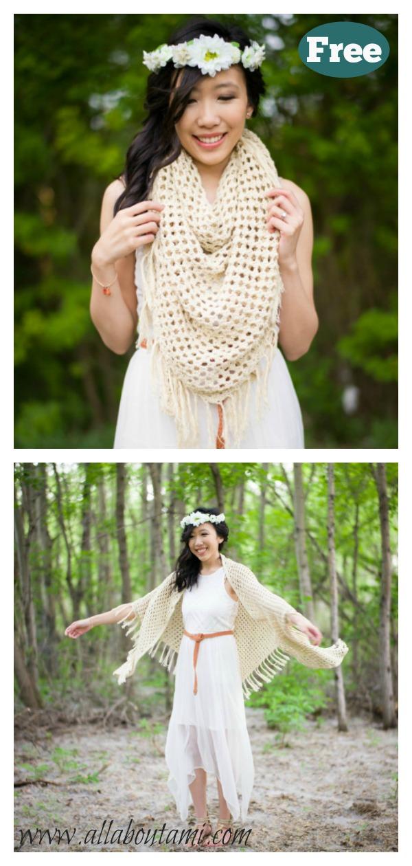 Boho Wrap Free Crochet Pattern
