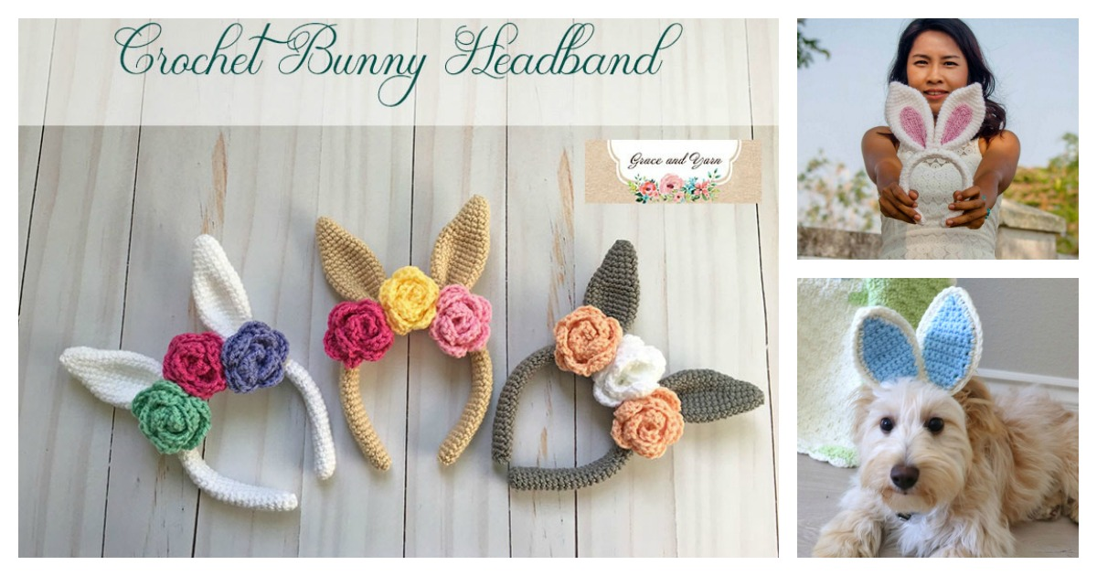 Bunny Ears Headband Free Crochet Pattern