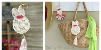 Bunny Pendant Keychain Free Crochet Pattern