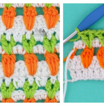 Carrot Stitch Free Crochet Pattern and Video Tutorial
