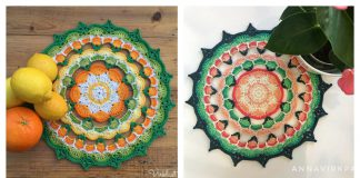 Citrus Mandala Free Crochet Pattern