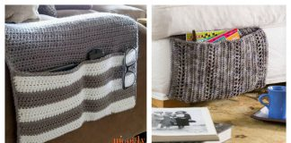 Cozy Couch and Bedside Organizer Caddy Free Crochet Pattern