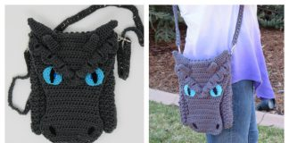 Dragon Cross Body Bag Free Crochet Pattern