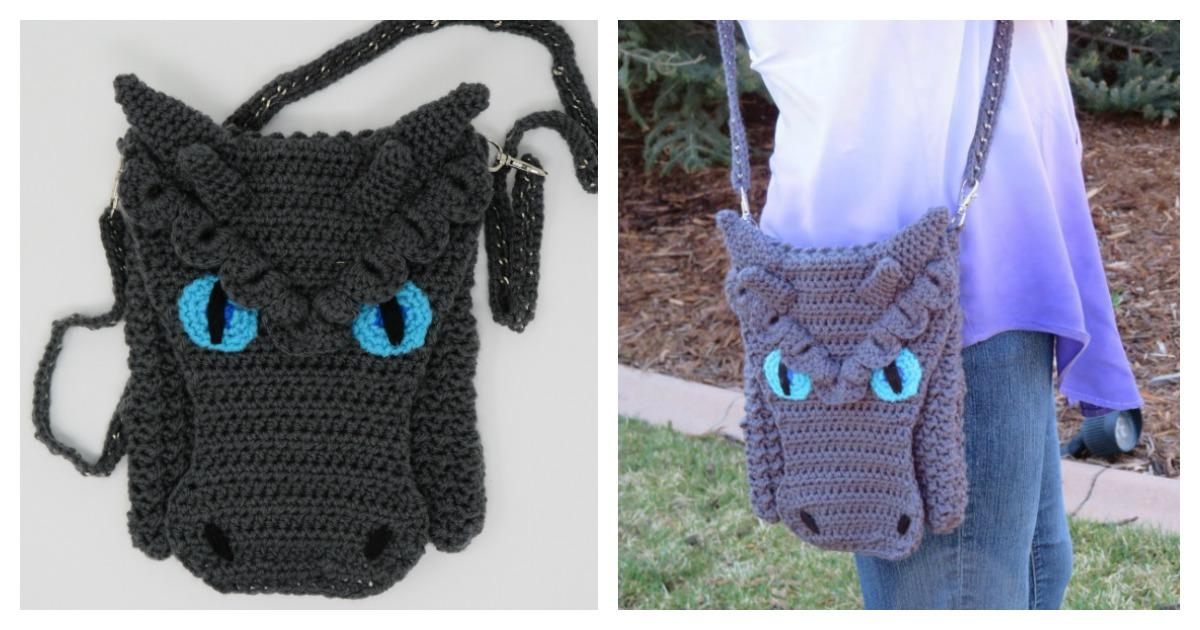 Dragon Cross Body Bag Free Crochet Pattern