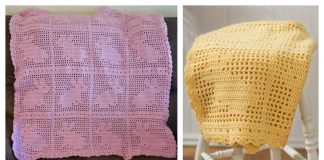Filet Bunny Afghan Blanket Free Crochet Pattern and Video Tutorial