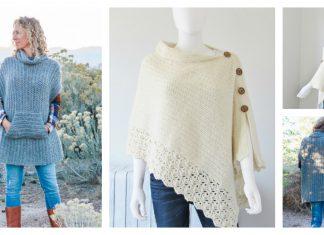 Knit Look Crochet Poncho Free Pattern