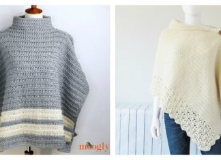 Knit Look Crochet Poncho Free Pattern