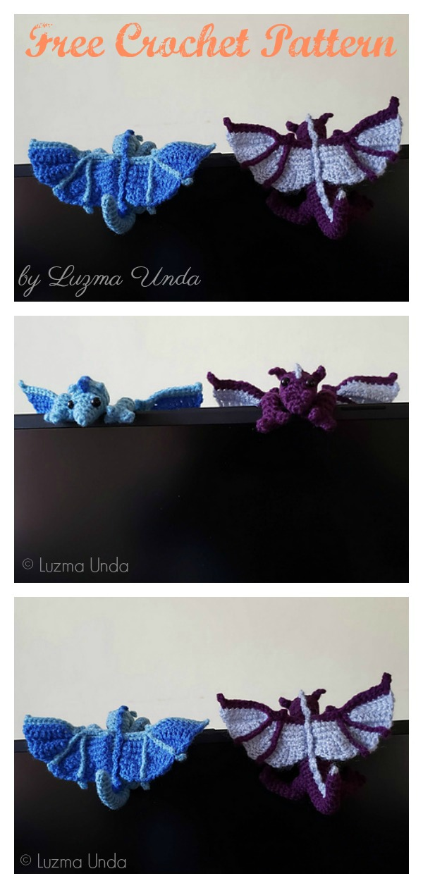 Crochet pattern: Little Dragon | Crochet dragon, Crochet toys ... | 1260x600