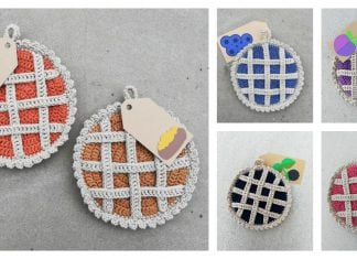 Lattice Pie Pot Holder Free Crochet Pattern