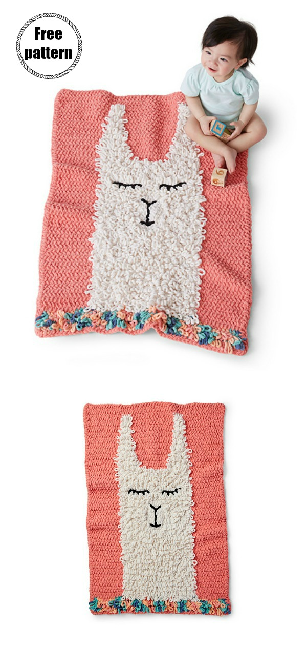 Alpaca Love Blanket Free Crochet Pattern