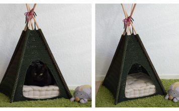 Pet Teepee Tent Free Crochet Pattern